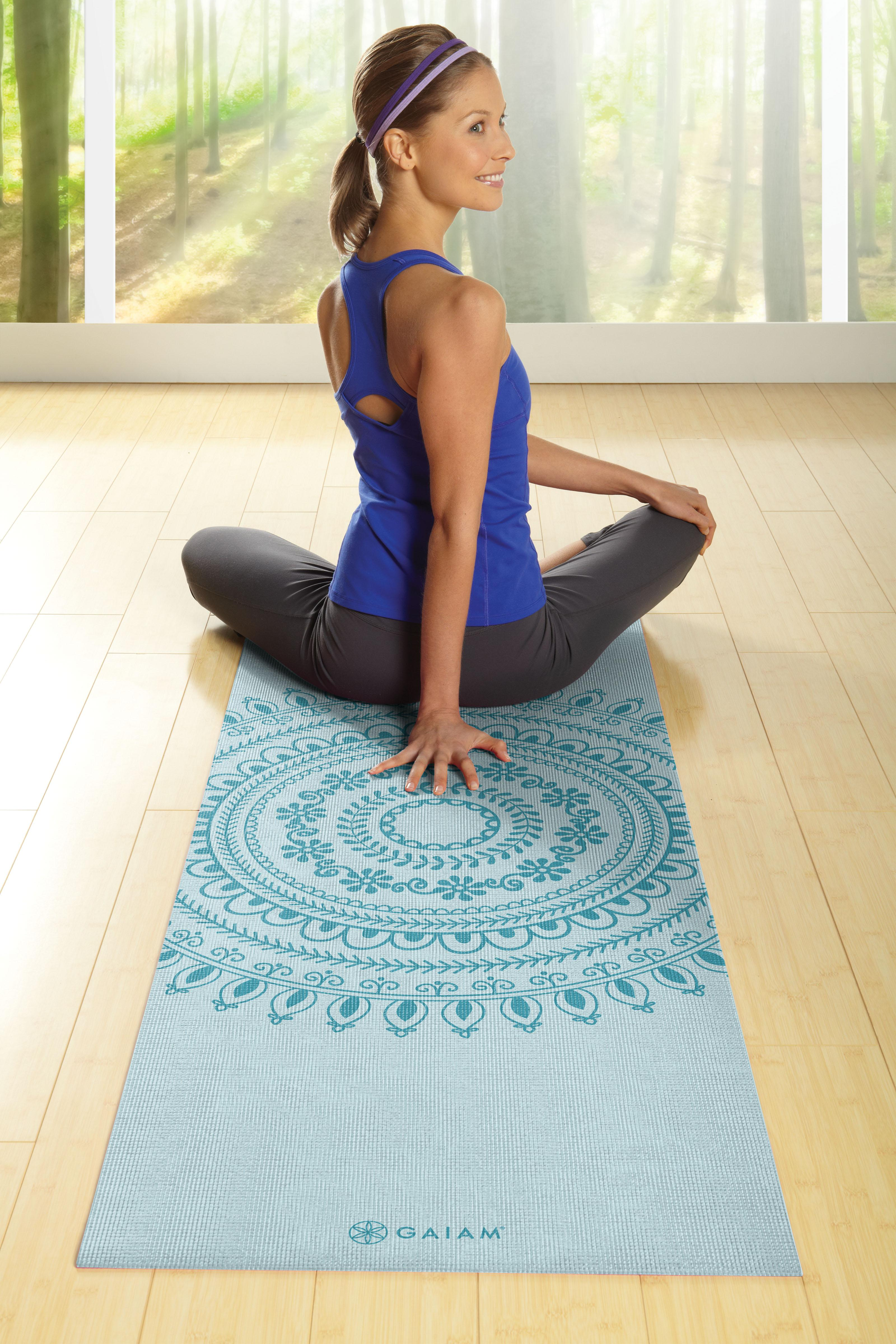 Amazon.com : Gaiam Print Premium Yoga Mats (5mm) : Sports