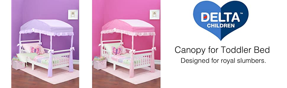 Canopy Toddler Bed Decor Girls Bedroom Princess Purple