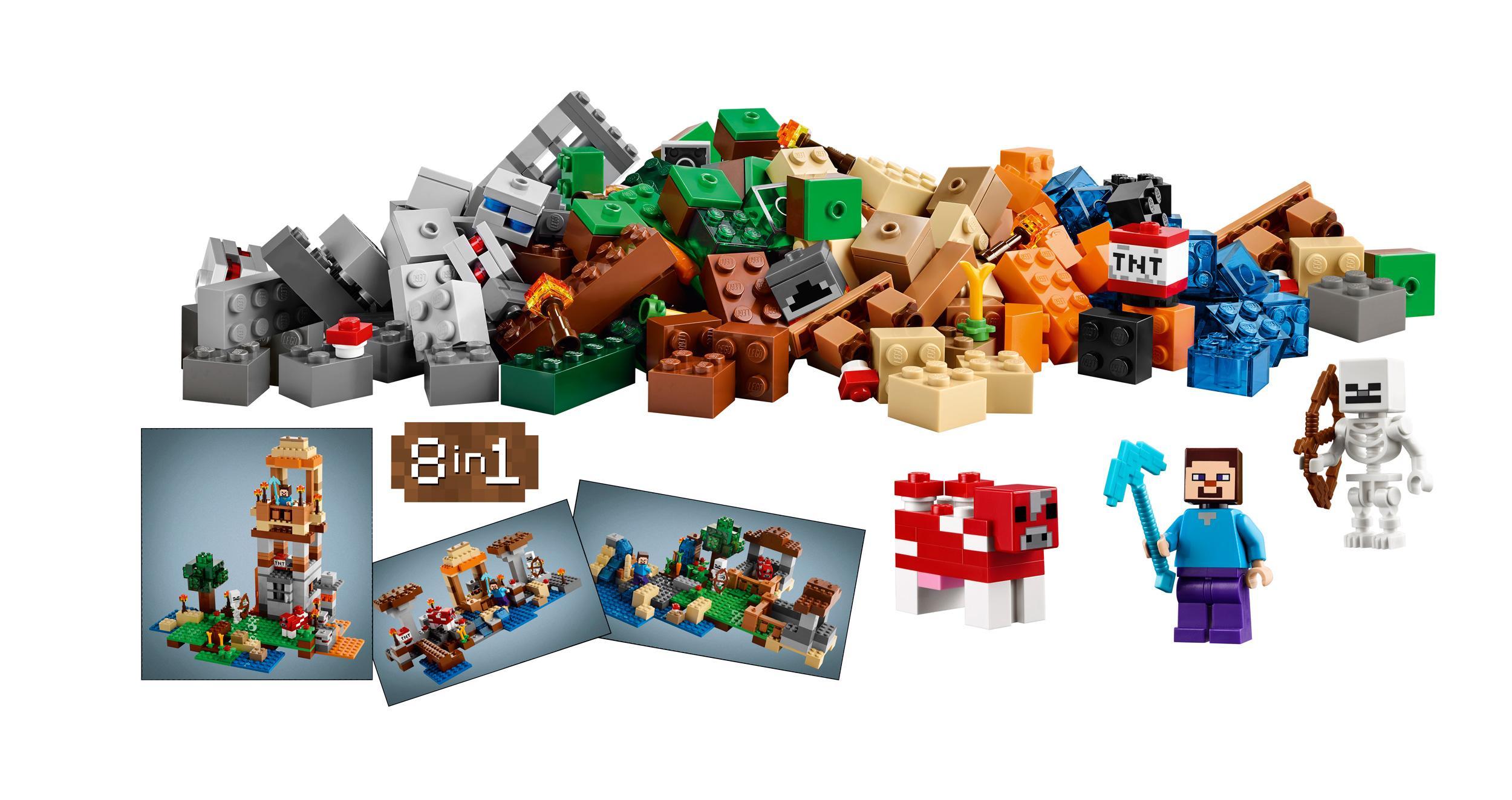 Amazon Com Lego Minecraft 21116 Crafting Box Toys Amp Games