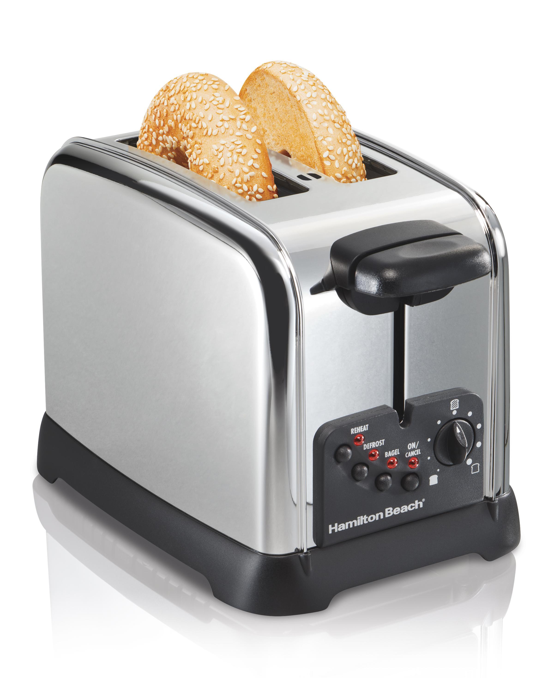 Amazon Com Hamilton Beach Classic Chrome 2 Slice Toaster