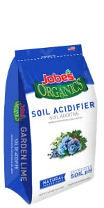 OMRI conditioner acidifier pH balancer soil amendment hydrangeas blue alkalinity acid
