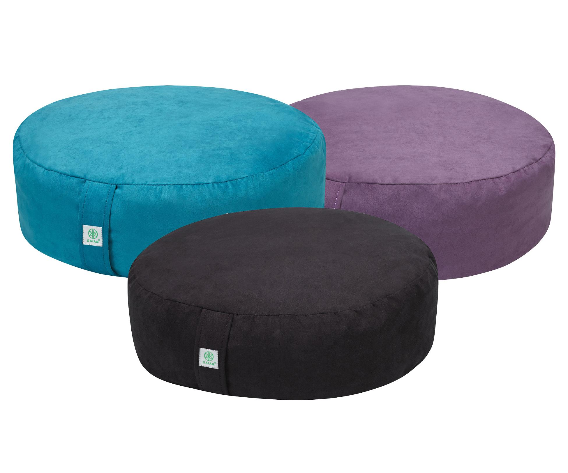 Amazon.com : Gaiam Zafu Meditation Cushion, Black : Sports