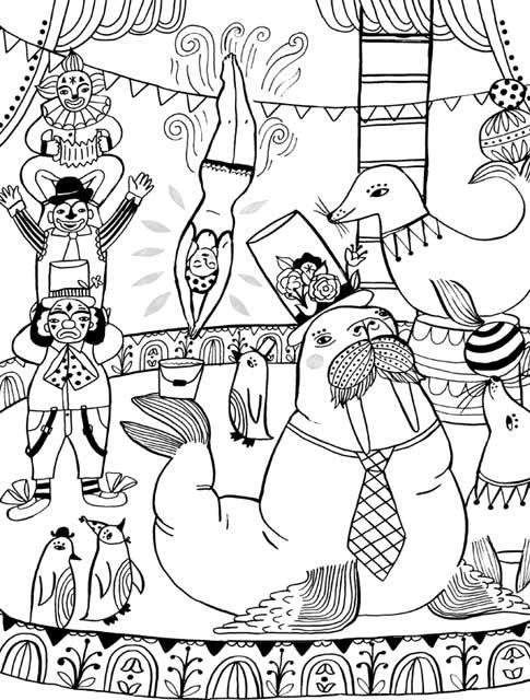 view larger - Circus Coloring Pages