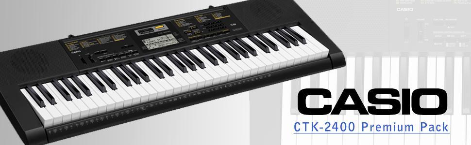 teclado casio ctk2400 ppk 61key portable hp30 headphones 4 en mercado libre. Black Bedroom Furniture Sets. Home Design Ideas