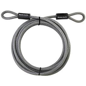 Master Lock 72DPF Heavy Duty Cable, 15-Feet, Braided Steel