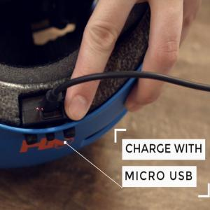 helmet charging battery with usb