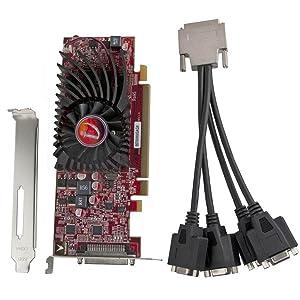 Visiontek HD 5570 SFF 4-port VGA VHDCI 1 GB x16 PCIe Graphics Card