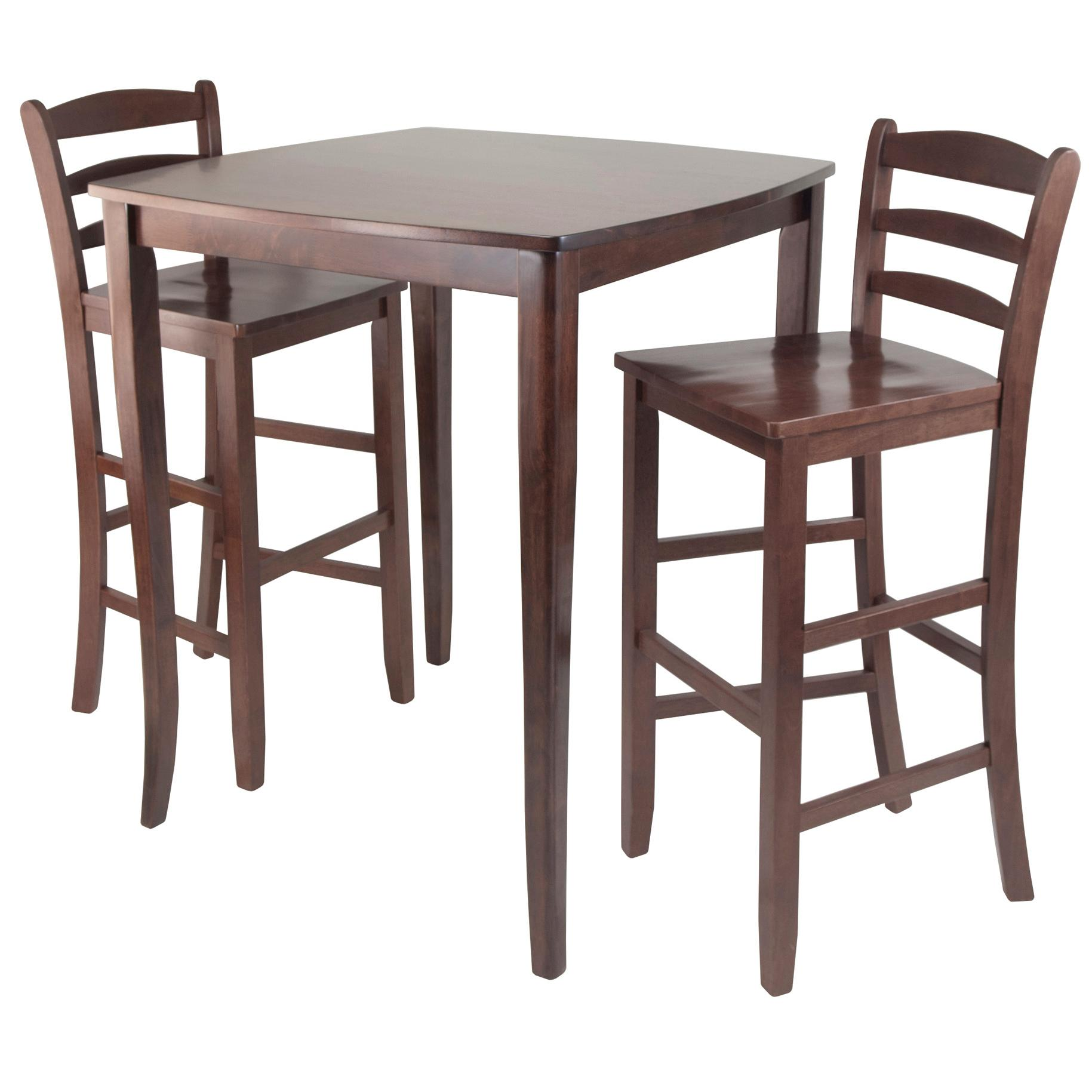 winsome inglewood high pub dining table with ladder back stool 3 piece tables. Black Bedroom Furniture Sets. Home Design Ideas