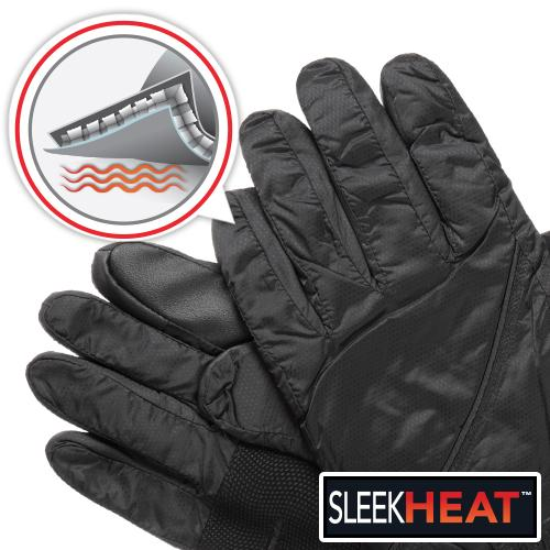 Isotoner Men's SleekHeat smarTouch Packable Gloves at