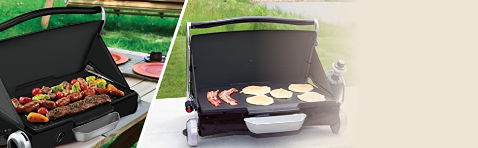 Grill/Griddle Reversible Plate