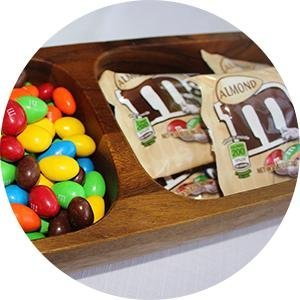 Pack a party treat that is sure to be convenient. M&M'S Almond Candies are great for candy buffets.