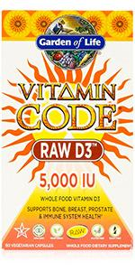 vitamin code raw D3 whole food vitamin bone breast prostate immune