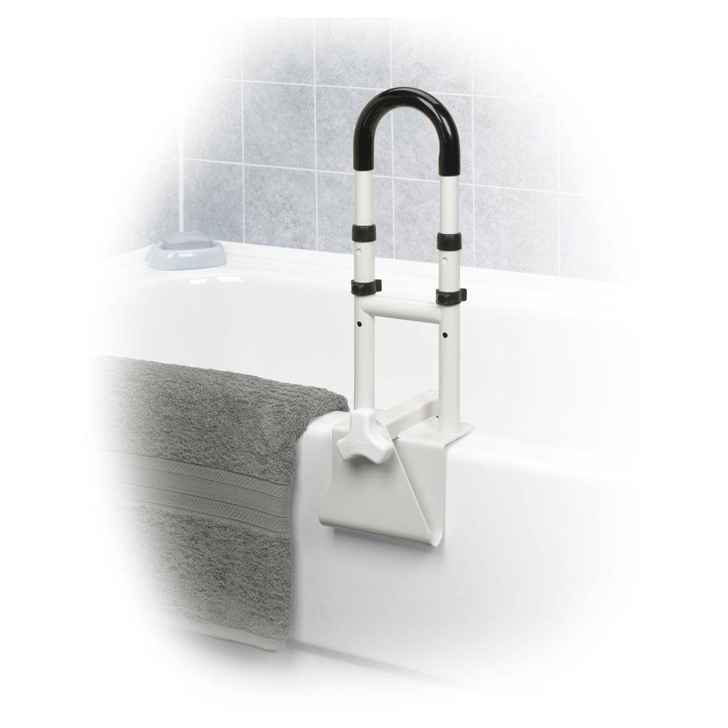 Amazon.com: Drive Medical Adjustable Height Bathtub Grab Bar Safety ...