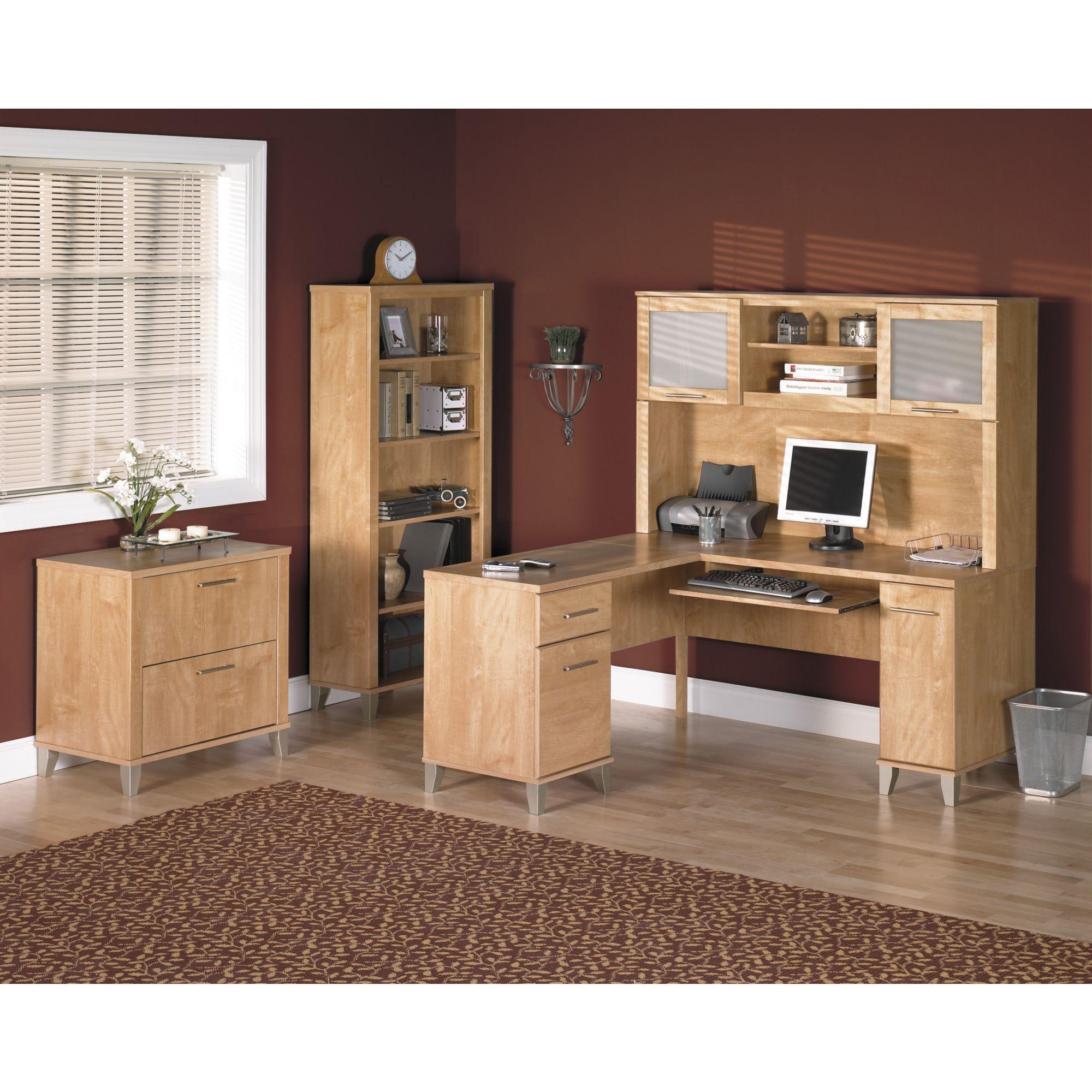 Amazon Com Somerset 71w L Shaped Desk With Hutch Kitchen