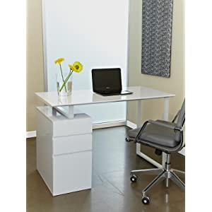Jesper Office Model 220 Writing And Computer Desk With Two Drawers + File  Drawer
