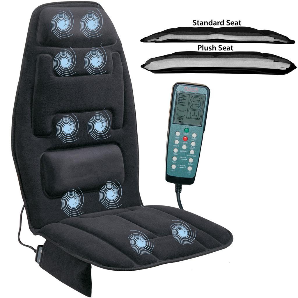 Amazon Com Relaxzen 10 Motor Massage Seat Cushion With
