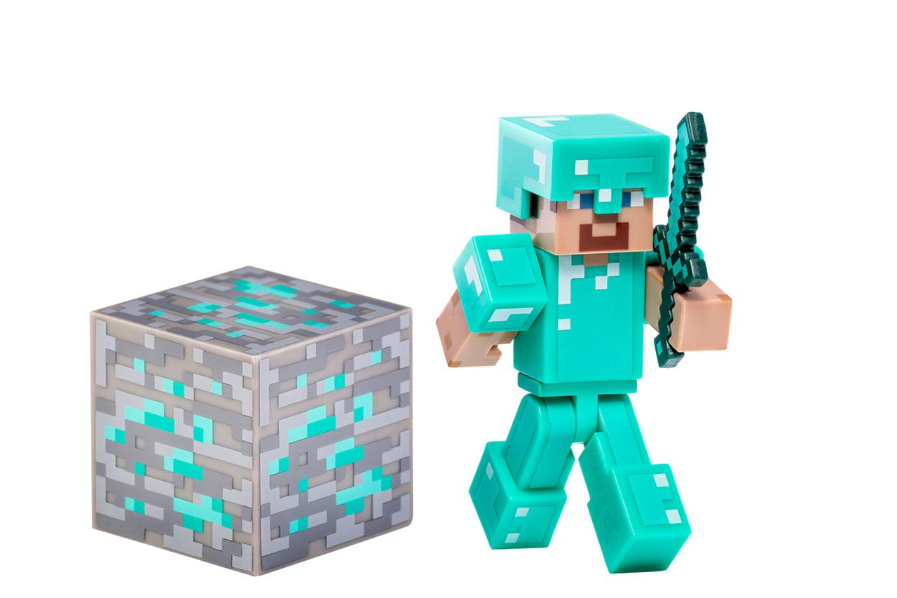 Amazon.com: Minecraft Diamond Steve Action Figure: Toys  for All Minecraft Characters  34eri