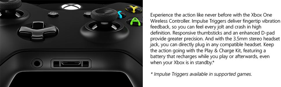 Amazon.com: Xbox One Wireless Controller and Play & Charge