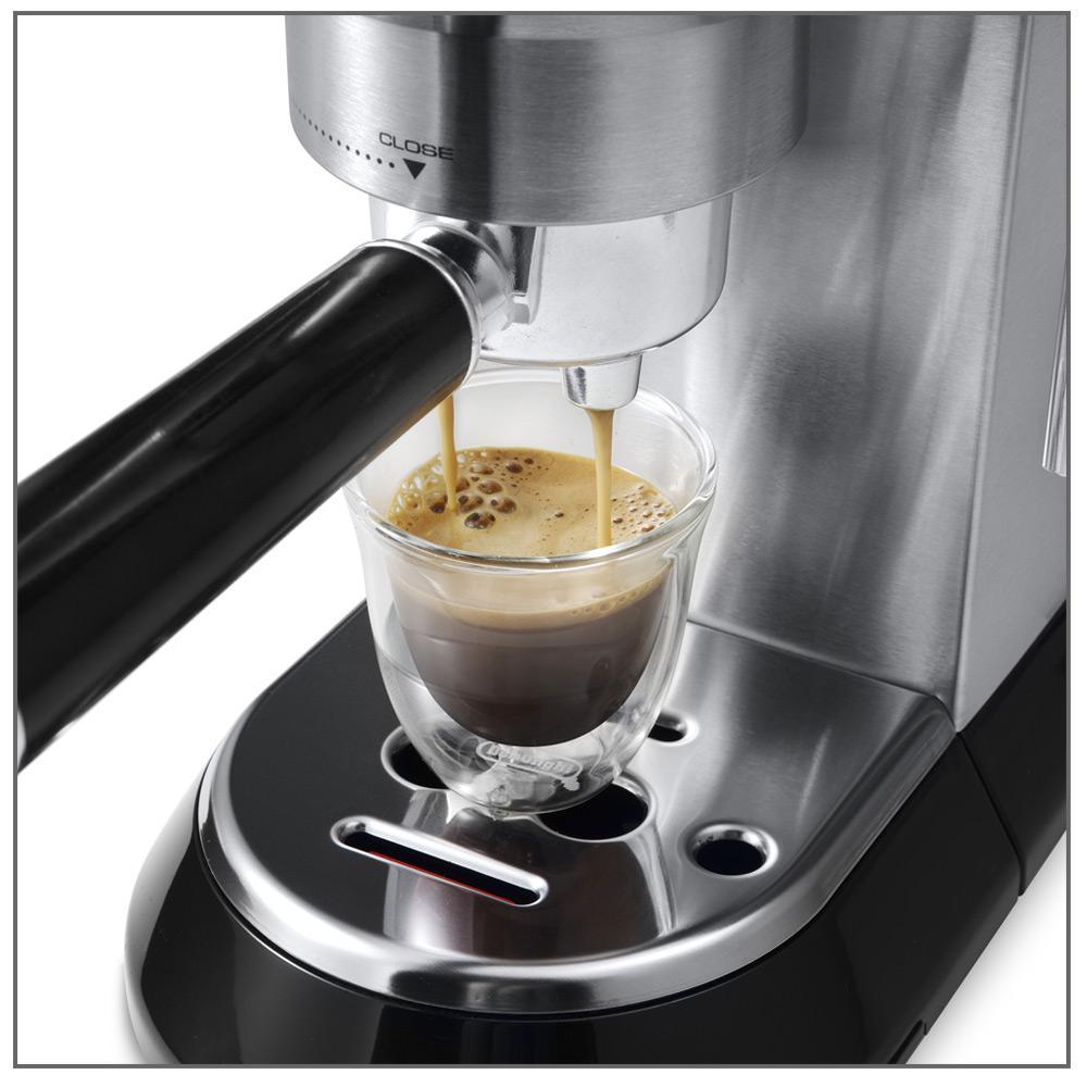 delonghi ec680m dedica 15 bar espresso machine stainless steel