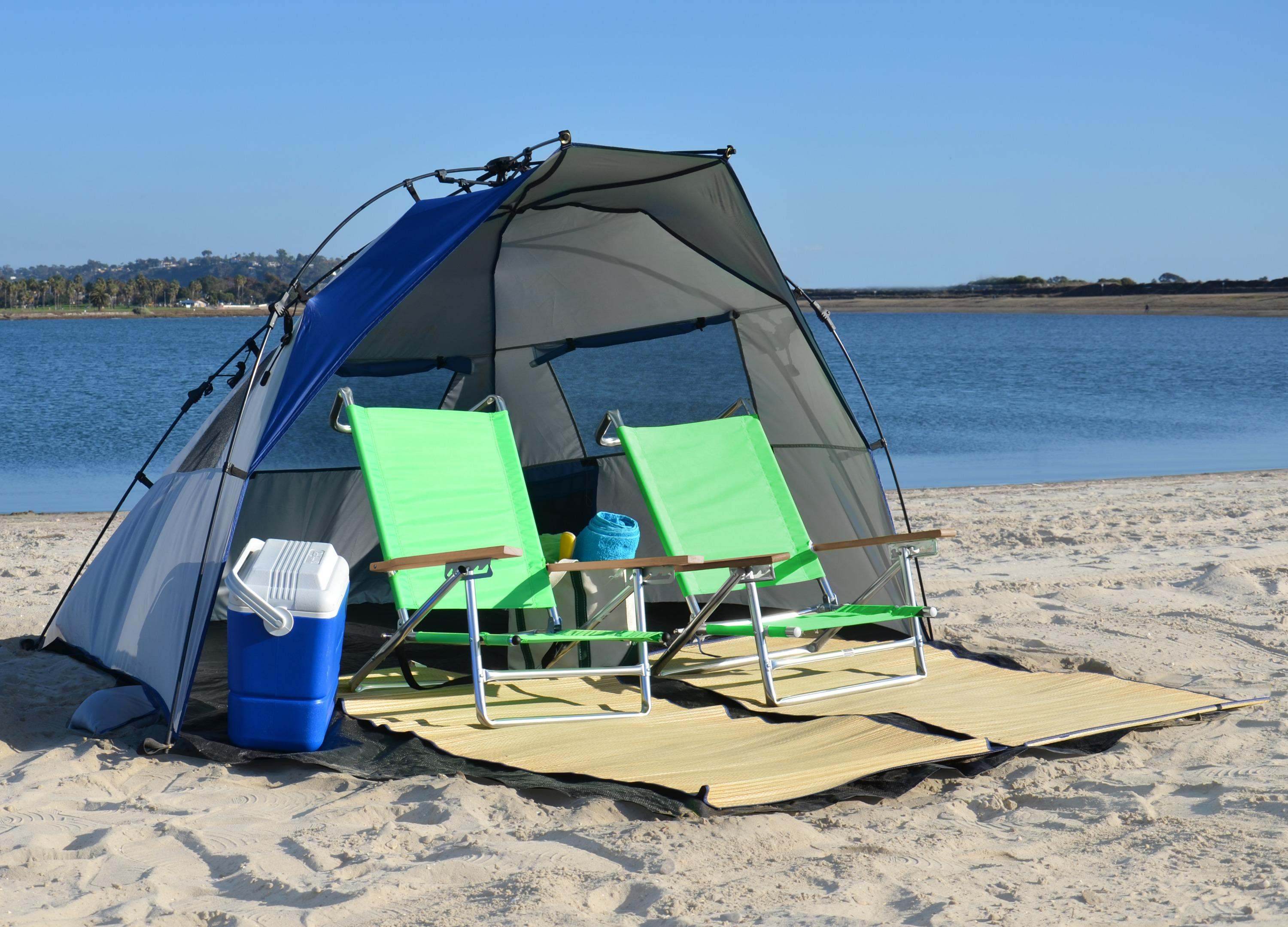 Beach Tents Cabanas : Cabana beach canopy tent pop up sun shelter backyard