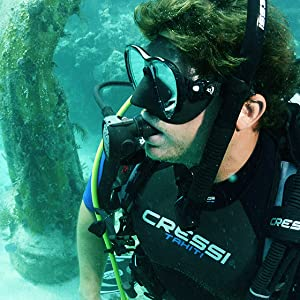 highest rated scuba diving gear, Made in Italy, prescription snorkel mask, professional scuba diving
