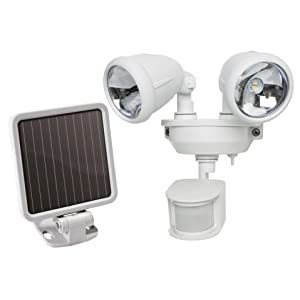 dual head solar spotlight, dual head security light, solar security light, B001U2D6OO, B00HJO67JI
