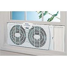 fan, window fan, holmes, hot weather