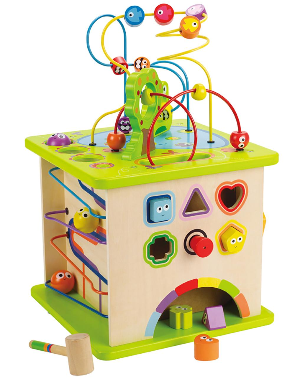 Amazon Com Hape Country Critters Wooden Activity Play