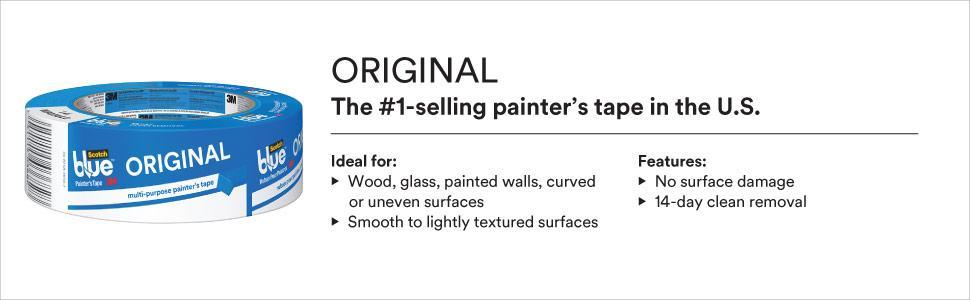 scotchblue, painters tape, original, blue