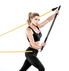 Bionic Body Workout Bar for Power Lifting Strength Training Home Gym and Cardio Exercise