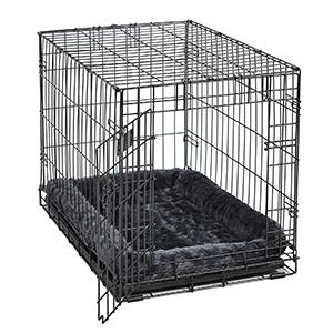 Gray Bed in Crate