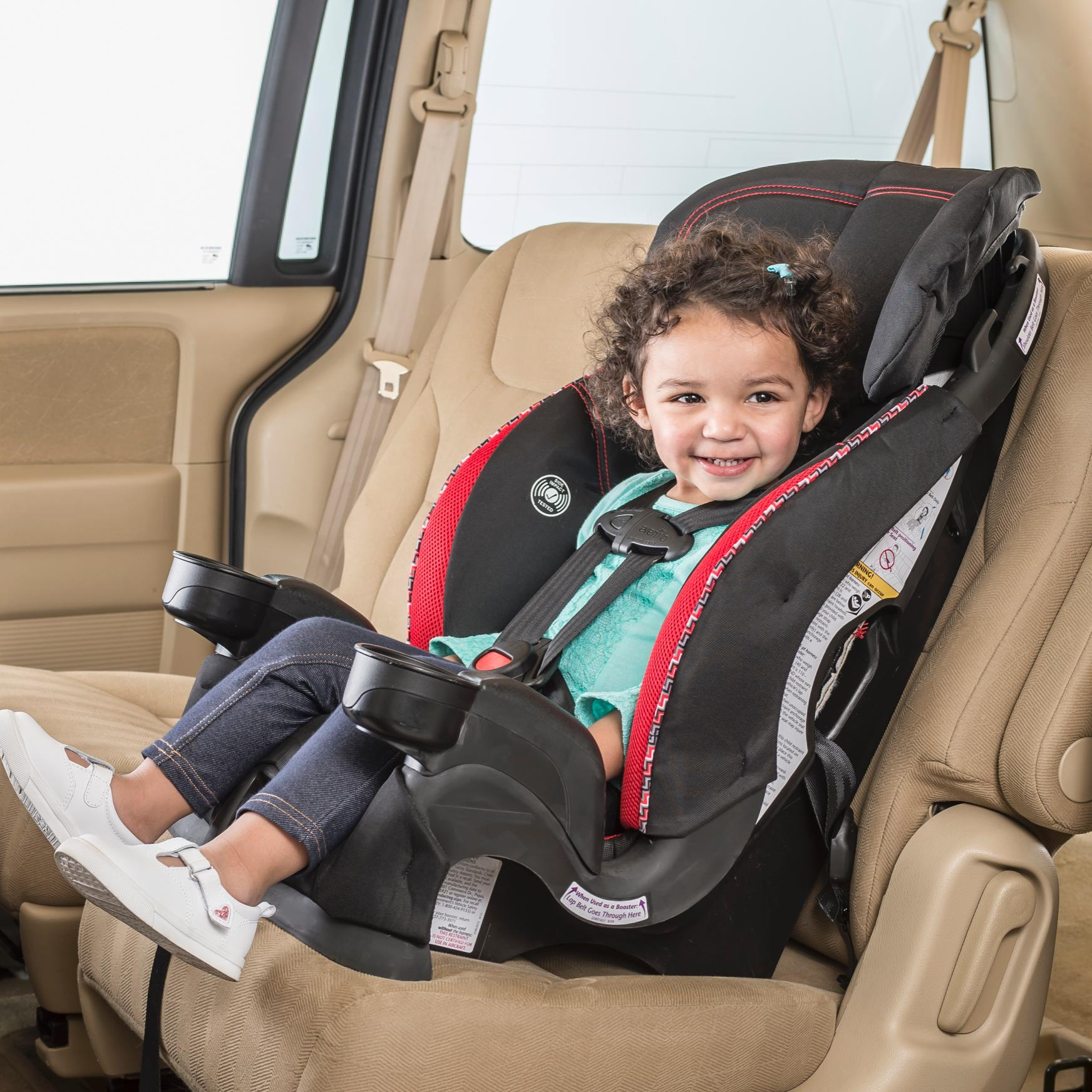 Evenflo Chase Lx Harnessed Booster Car Seat Aqua Optical
