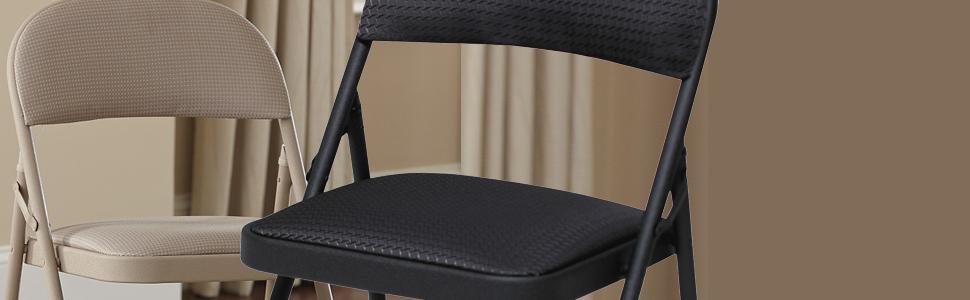 Amazon Com Cosco Fabric 4 Pack Folding Chair Black