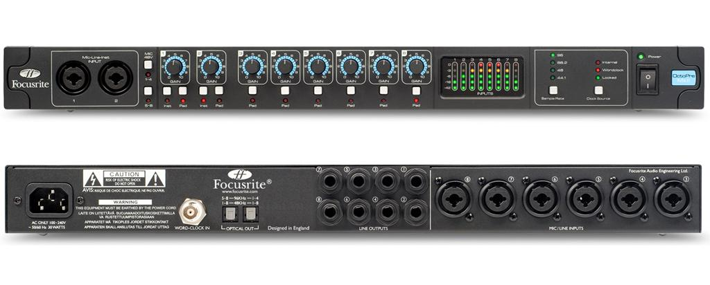 Octo Pre Mkii : focusrite octopre mkii 8 channel microphone preamplifier with adat optical output ~ Vivirlamusica.com Haus und Dekorationen