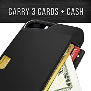iPhone 5/5S/5SE cover; fits credit cards plus cash