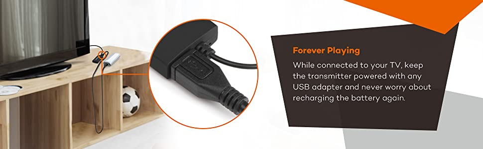 3.5mm audio-out jack. User-friendly design of LED light and button. Work with any type and brand of