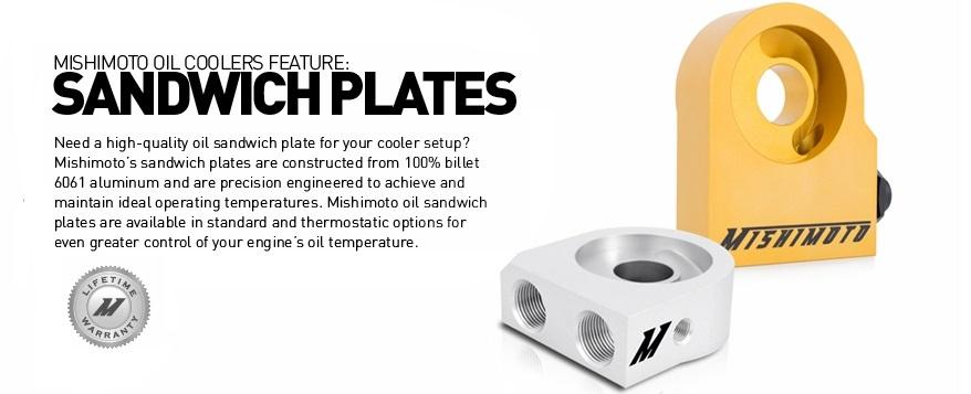 Mishimoto Performance Cooling Oil Sandwich Plate With Rear-Mounted Thermostat