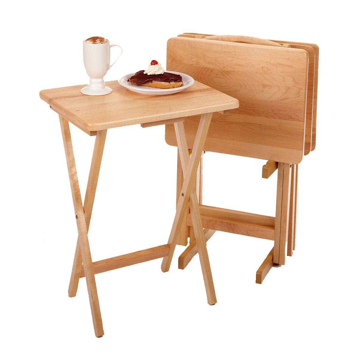 best of wooden folding table and chairs