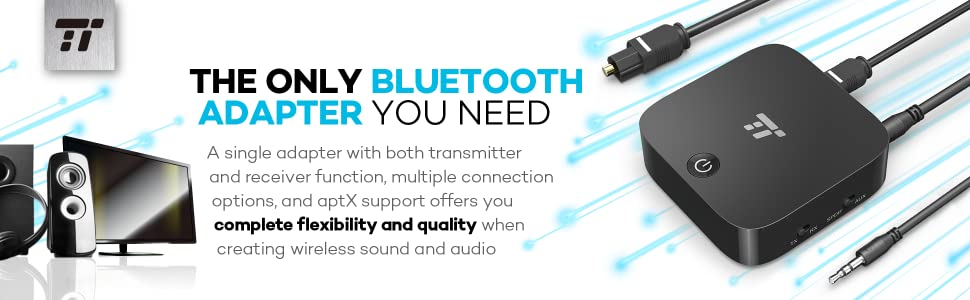 Bluetooth 4.1 Transmitter and Receiver, TaoTronics Digital Optical TOSLINK and 3.5mm Audio Wireless