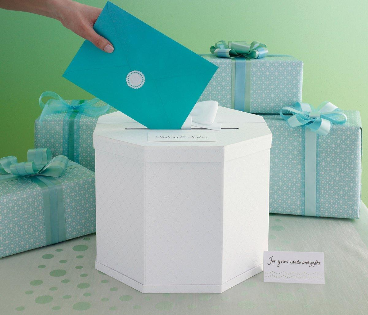 Amazon Martha Stewart Gift Card Box White Eyelet Arts – Round Wedding Card Box