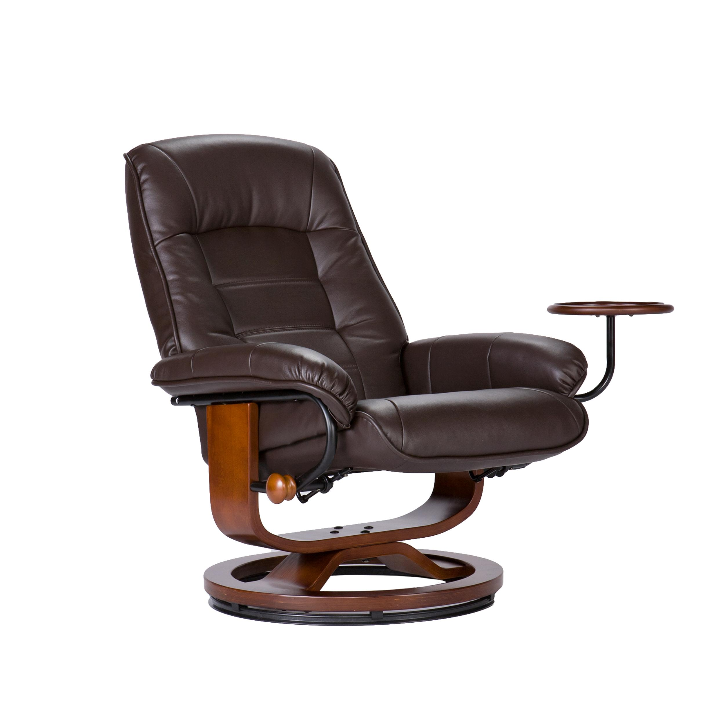 Amazon Com Bonded Leather Recliner And Ottoman Coffee