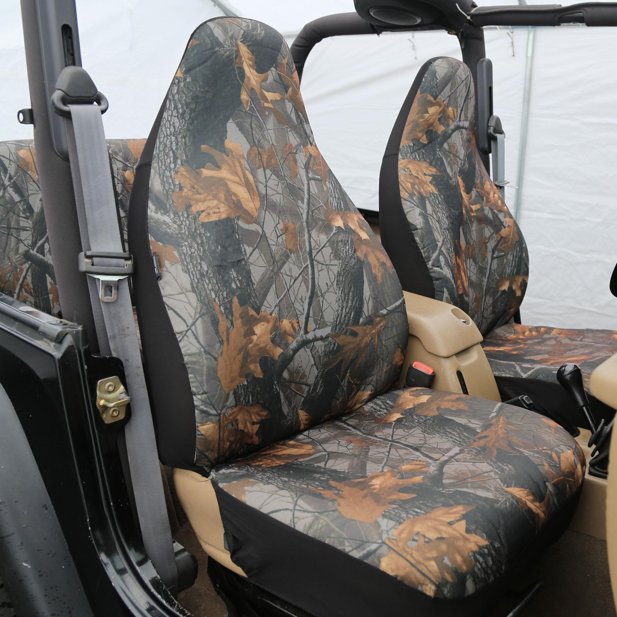 fh group universal fit full set car seat cover hunting camouflage airbag. Black Bedroom Furniture Sets. Home Design Ideas