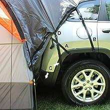 SUV Tent Straps