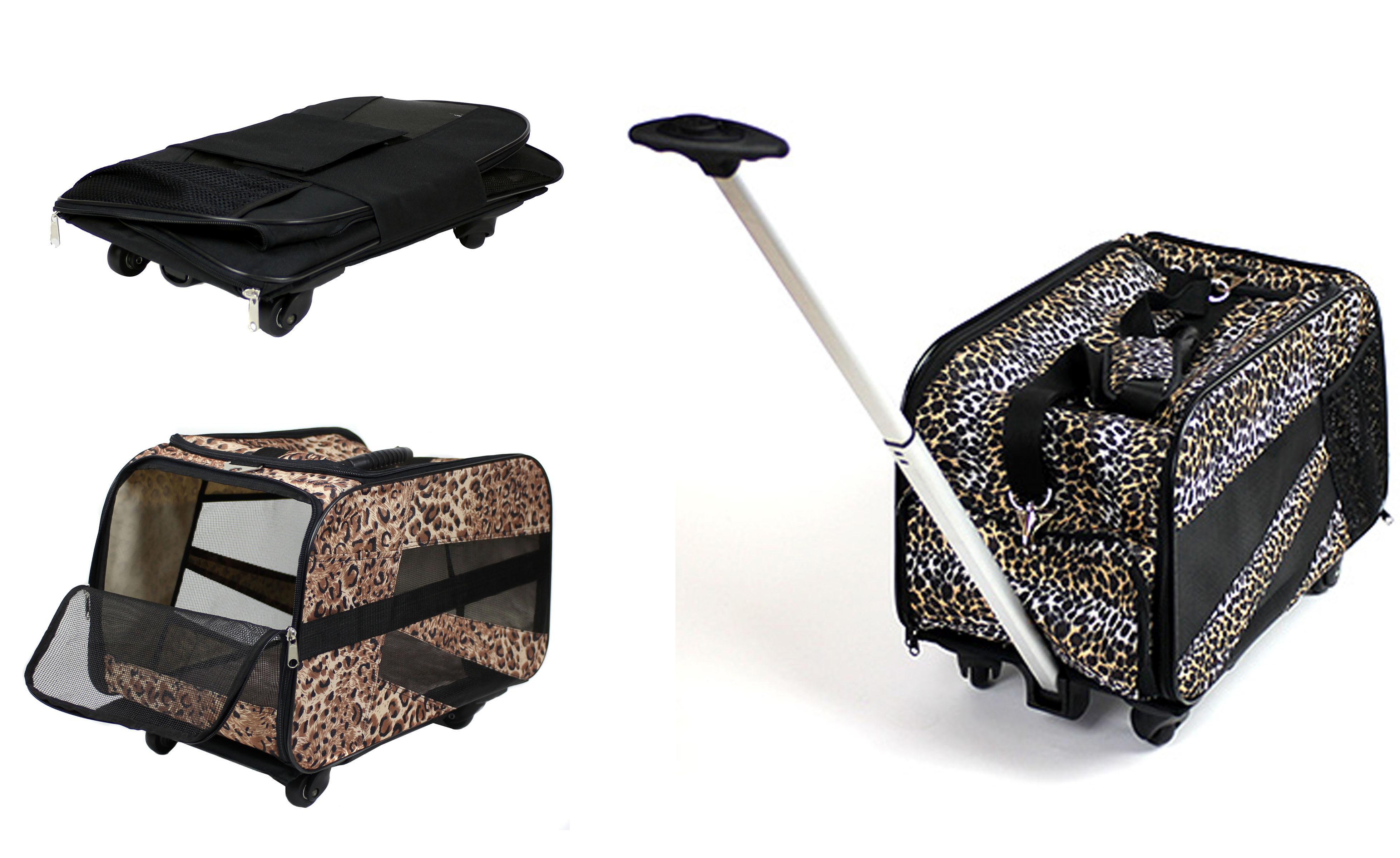 Amazon Com Pet Smart Cart Large Cheetah Rolling