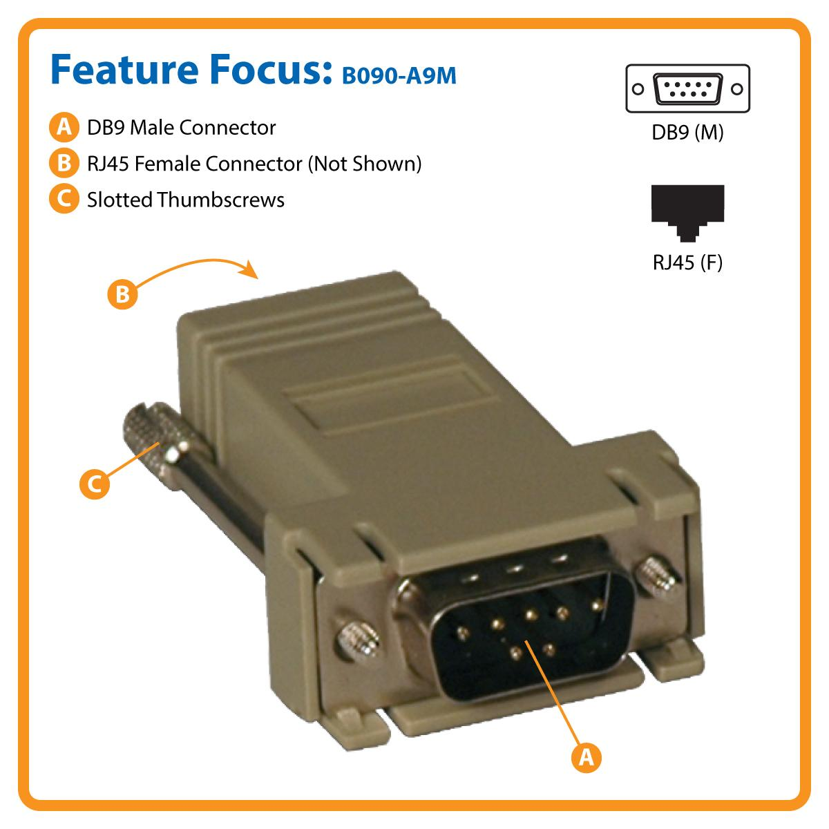 Tripp Lite Modular Serial Adapter Cisco Rj45 F To Db9 Connector Wiring Secure Connection Lifetime Warranty And Environmentally Responsible Design