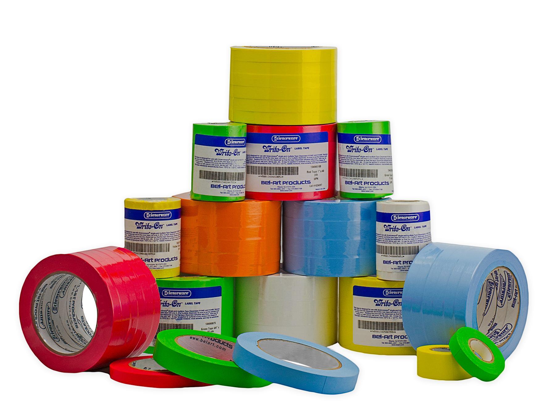Bel Art Write On Label Tape Multi Pack 15yd Length 179