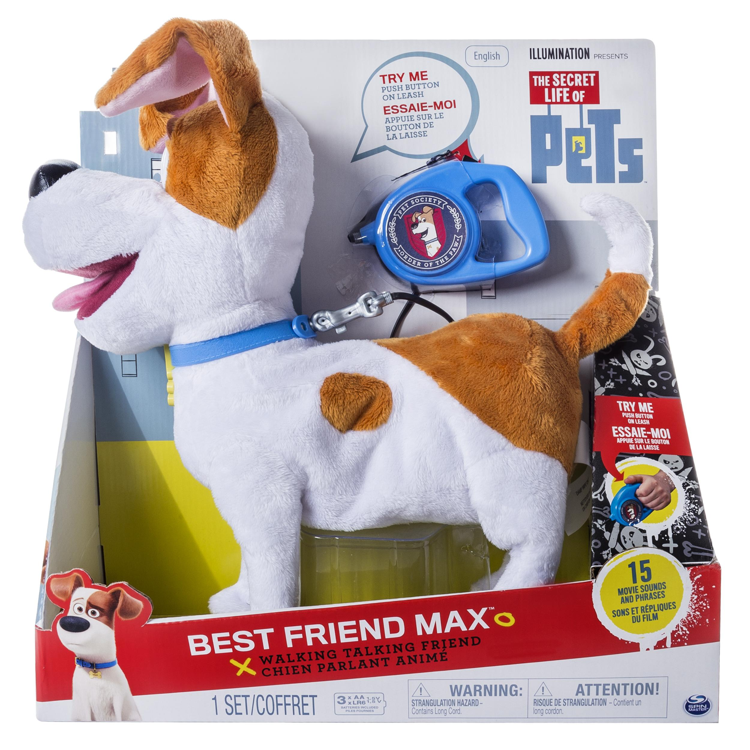 secret life of pets max toy with leash