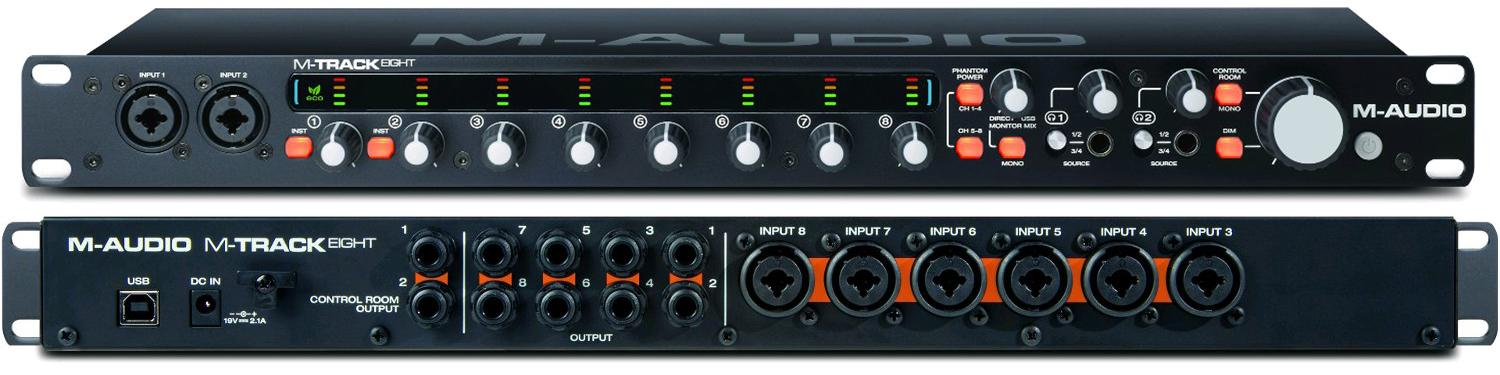 amazon com m audio m track eight 8 channel high resolution usb 2 0 audio interface with victory octane user manual octane user guide