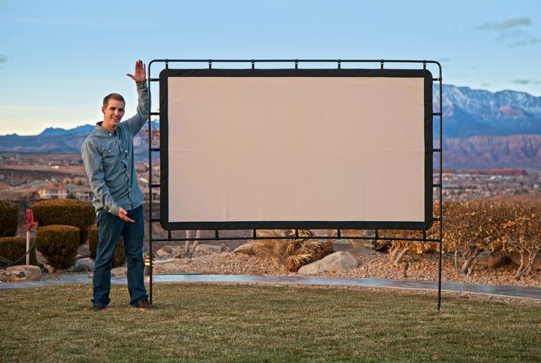 Outdoor Entertainment Gear Outdoor Big Screen 92 Inch Lite Portable Movie  Screen