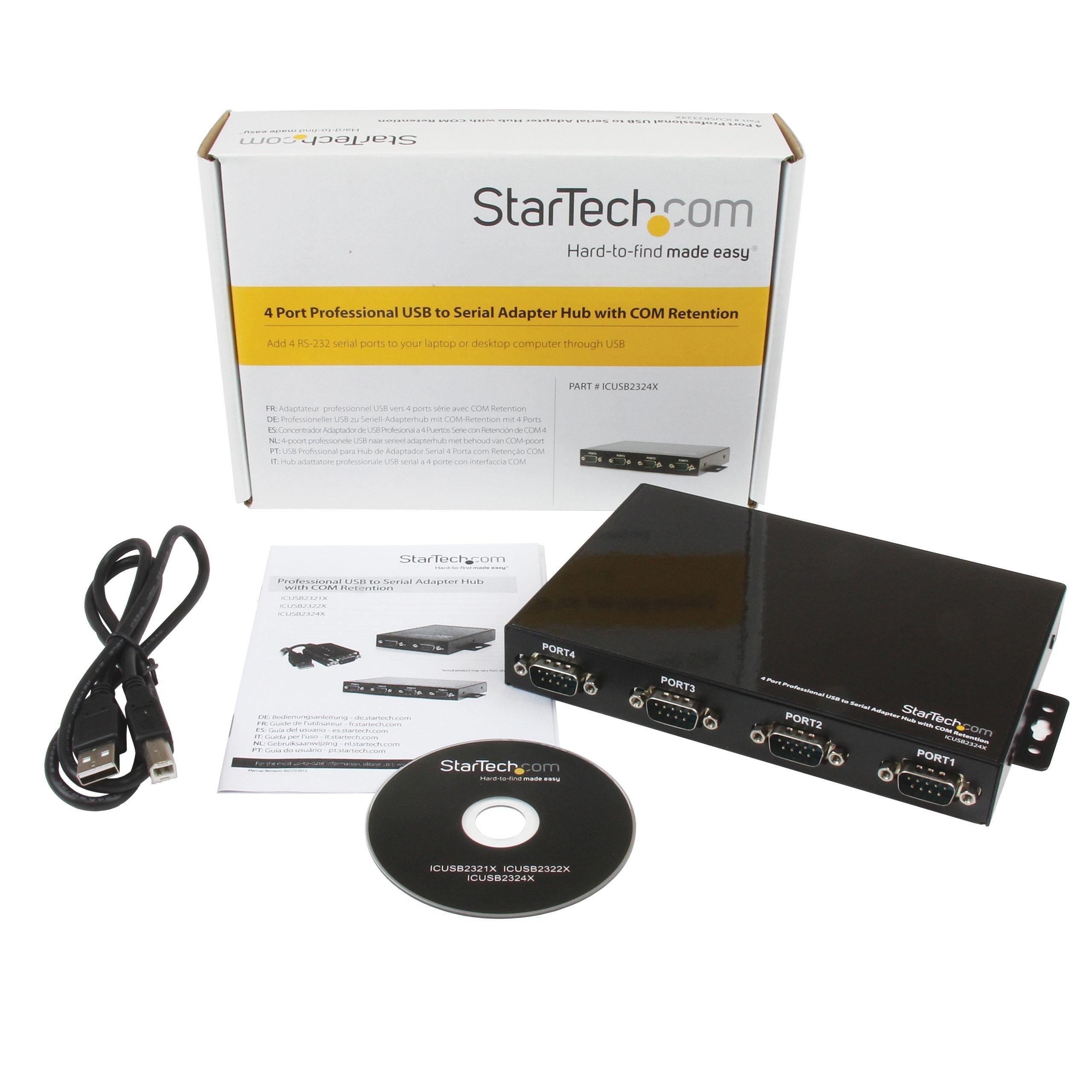 Amazon Com Startech Com Usb To Serial Adapter Hub 4